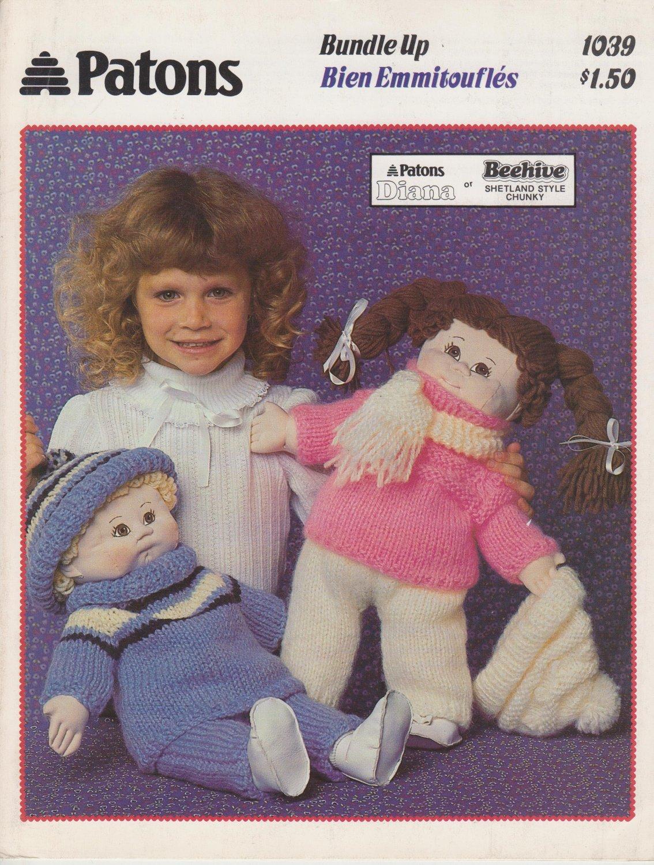 Patons 1985 Knitting Pattern Bundle Up #1039
