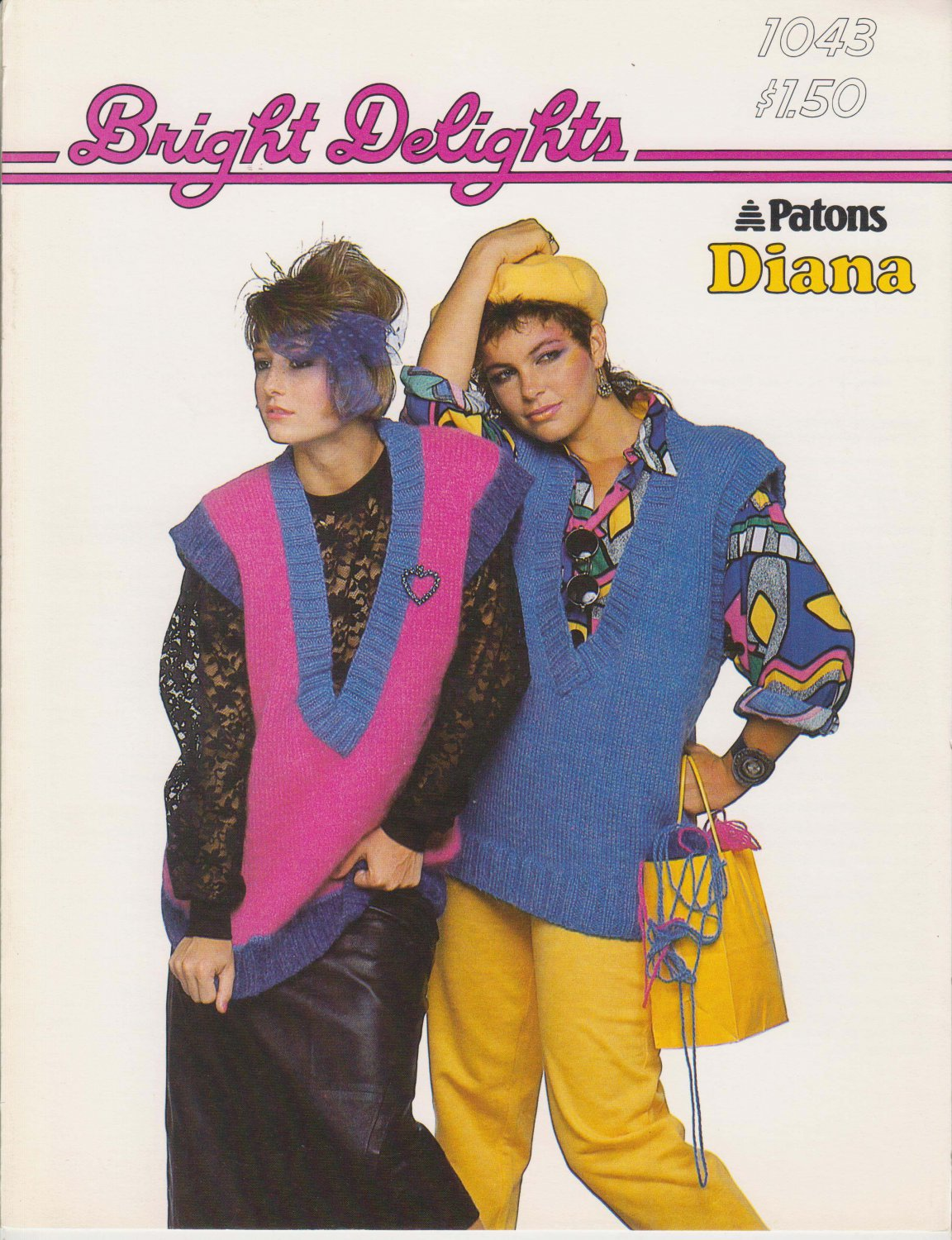 Patons Bright Delights 1985 Knitting Pattern #1043