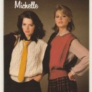 Patons 1984 Open Sided Vest Knitting Pattern #1032
