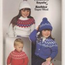 Patons 1983 Knitting Pattern #1009 Fair Isles for 2-12