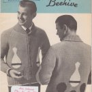 Patons Beehive Canadiana #1010 Bowling Cardigan Vintage Knitting Pattern