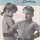 Patons Beehive Canadiana #1028 Bordered Cardigans Vintage Knitting Pattern