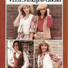 Patons Beehive Pattern # L-2 Vests to knit & crochet