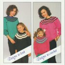 Patons 1987 Pattern #1060 The Added Touch Designs To Knit Designs To Crochet
