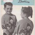 Patons Beehive Canadiana #1017 Elf Pullovers Vintage Knitting Pattern