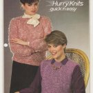 Patons Jaeger 1983 Knitting Pattern #1011 to knit bubble top w/wo sleeves