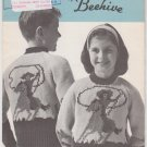 Patons Beehive Canadiana #1008 Rodeo Pullovers Knitting Pattern in Sizes 8 to 12