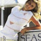 Patons 1986 Knitting Pattern #8289 Slash Neck Sleeveless Top