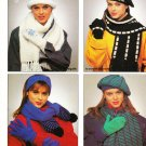 Patons 1987 Knitting Pattern Leaflet #1059 Winter Accessories