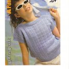 Patons Knitting Pattern No.8244 Sleeveless Top in 6 Sizes 22 to 32 inches
