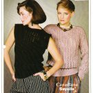 Patons Knitting Pattern #1015 Condo Sweater w/wo Sleeves