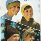 Patons Beehive Vintage Pattern Book #118 Winter Headwear