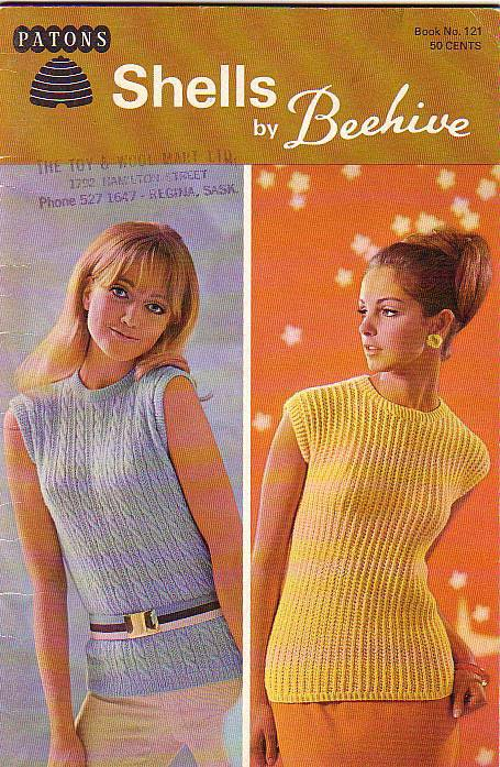 Patons Beehive Vintage Knitting Pattern Booklet #121 Shells