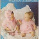 Patons Vintage Knitting & Crochet Pattern Booklet #180 Baby Scene