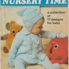 Patons 1977 Knitting & Crochet Pattern Book #203 Nursery Time - 17 Designs