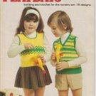 Patons Vintage 1973 Knitting & Crochet Pattern Book # 182 Playdays -15 designs