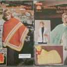 Patons Beehive Knitting/Crochet Pattern Booklet Color Series #7 Shawls, Ponchos
