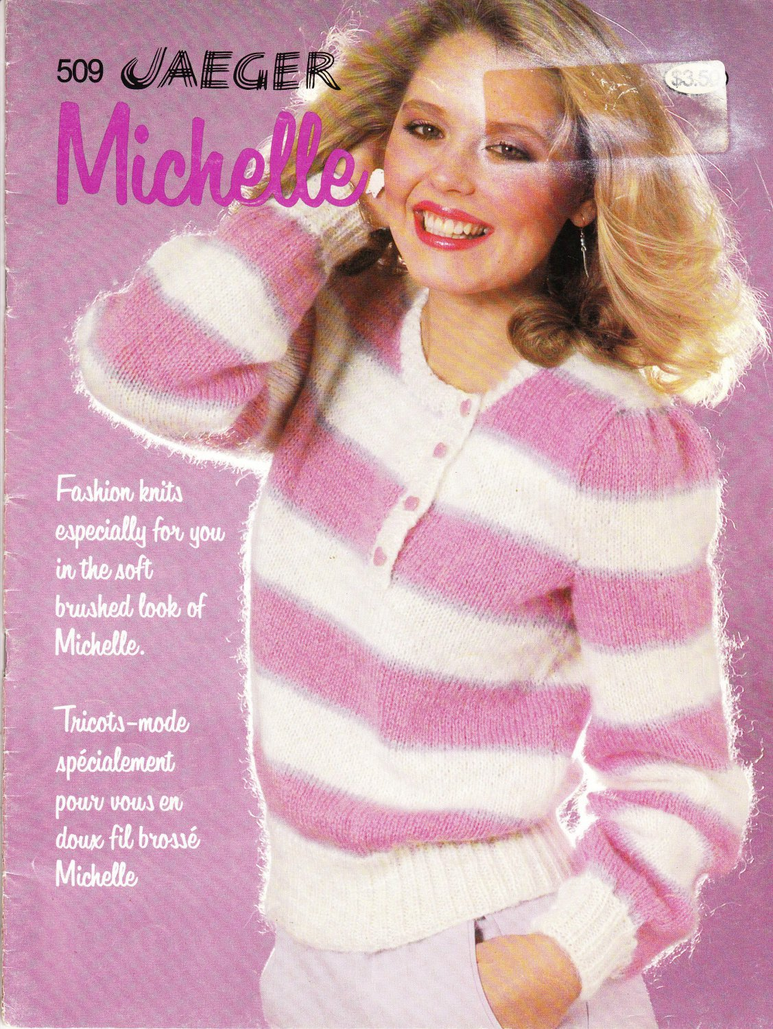 Patons Beehive Jaeger Michelle 1981 Knitting Pattern Book #509