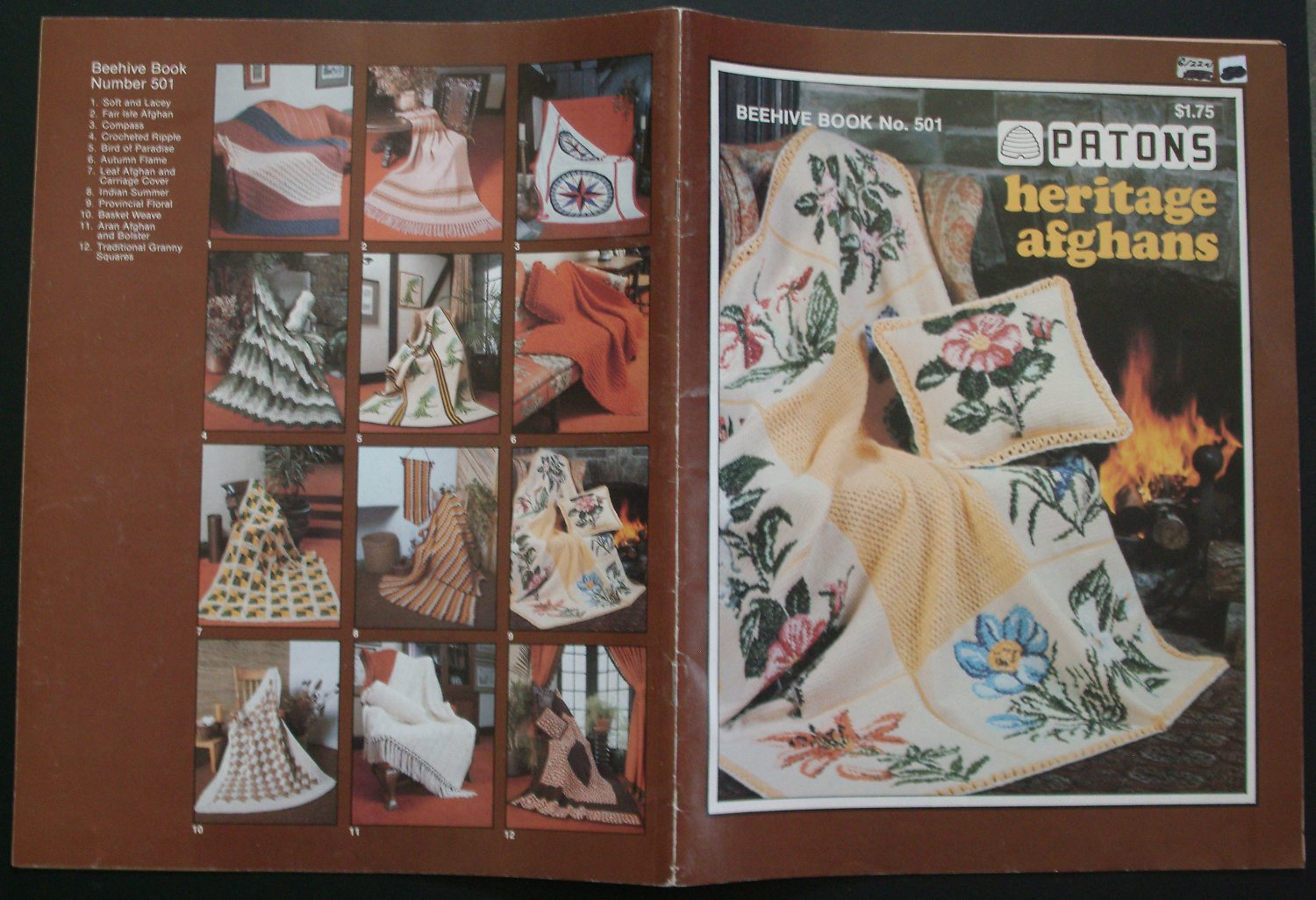 Patons Beehive Pattern Book No. 501 Heritage Afghans