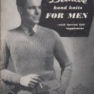 Patons Vintage Knitting Pattern Book Beehive hand knits For Men Series No. 39