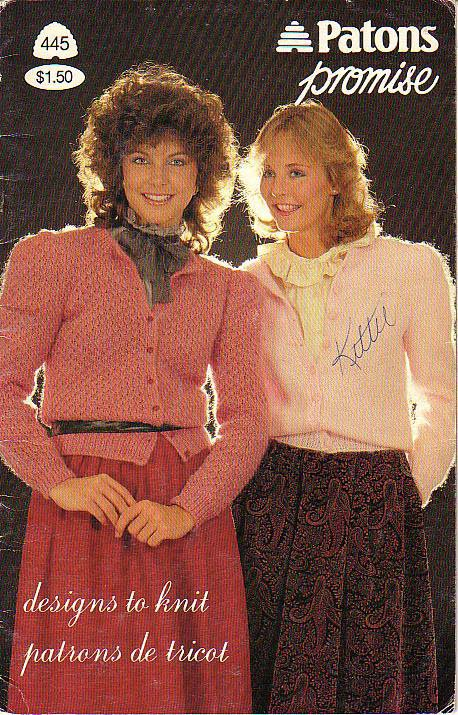 Patons Promise Vintage 1983 Knitting Pattern Booklet #445 Designs To Knit