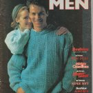 Patons Knitting Pattern #521 Mens Vest Pullover Cardigan Sweater Patterns