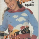 Patons Beehive 1982 Knitting Pattern Book #437 Super Sweaters for superkids