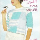 Patons 1988 Knitting Pattern Book #494 The Soft Touch Of Venus and Valencia