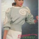Patons Beehive Shetland Chunky Express Yourself 1988 Knitting Pattern Book # 611