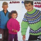 Patons 1992 Kidstuff Knitting Pattern Booklet #675DD