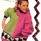 Patons 1992 Knitting Pattern Book #673CC Canadiana Max