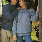 Patons 1994 Knitting Pattern Book # 716CC Cables And Textures