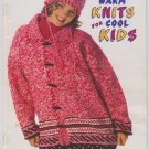 Patons 1995 Knitting Pattern Booklet #731CC Warm Knits For Cool Kids