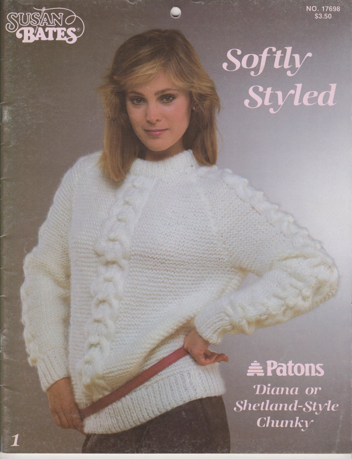 Patons Susan Bates 1984 Knitting Pattern Booklet Softly Styled #17698