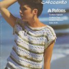 Patons Susan Bates Summer Accents 1985 Knitting Pattern Booklet No.17722