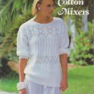 Patons Susan Bates Cotton Mixers 1984 Knitting & Crochet Pattern Book No.17700