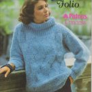 Susan Bates Knitting Pattern Booklet Sweater Folio No.17750 Patons Princess