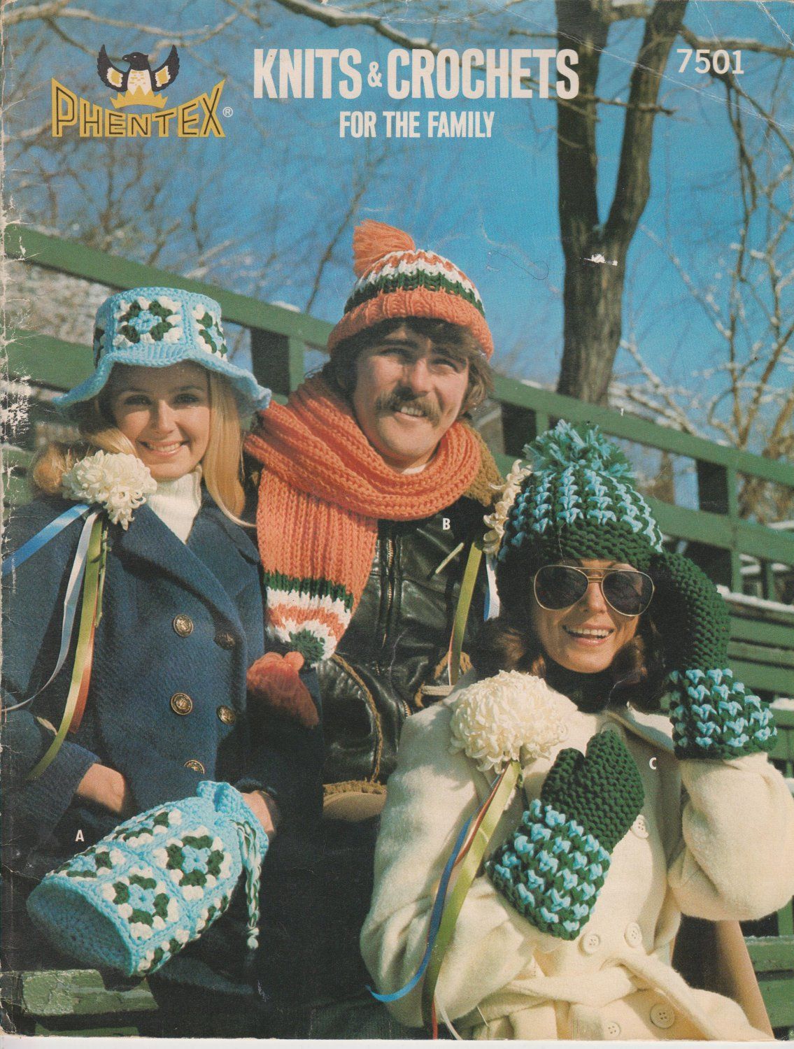 Phentex pattern #7501 Knits & crochets for the family