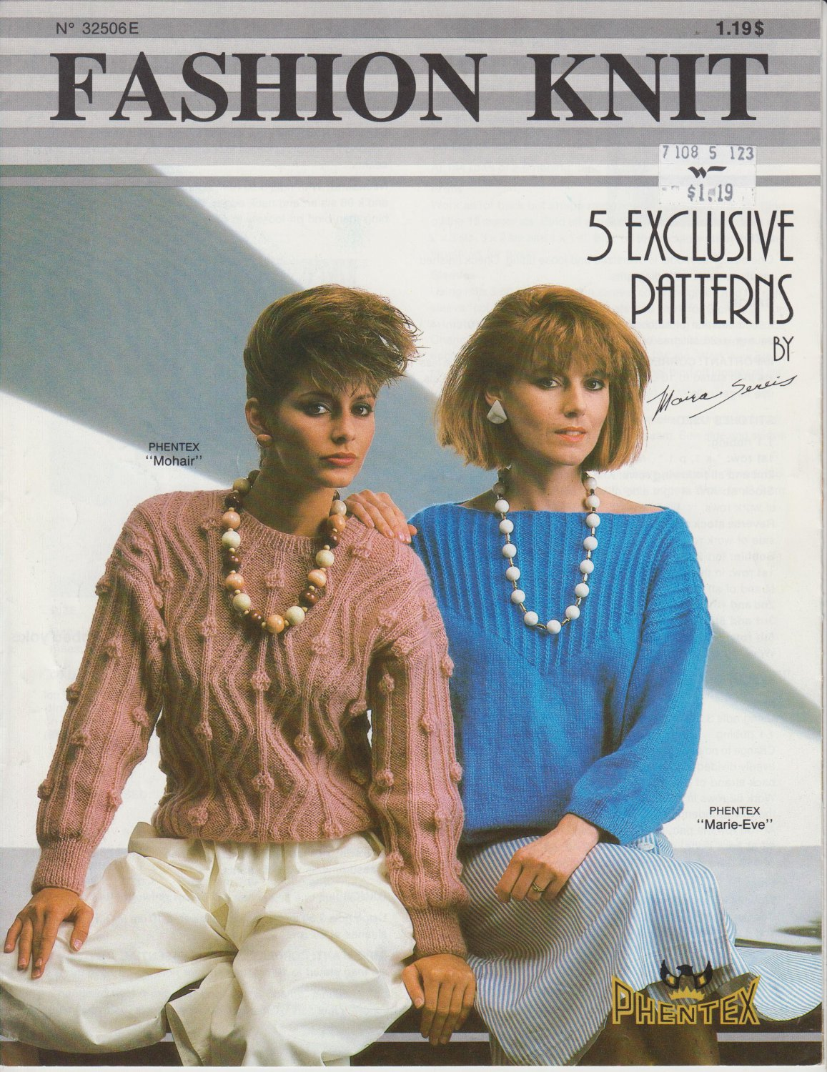 Phentex Knitting Pattern Fashion Knits Leaflet #32506E - 5 designs