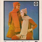 Phentex Knitting and Crochet Pattern #7146 Berets and Scarfs