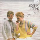 Phentex Fashion Knit Knitting Pattern Leaflet #12505E - 5 designs