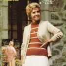 Phentex Pattern Leaflet #7605 Knits & Crochets in Elite