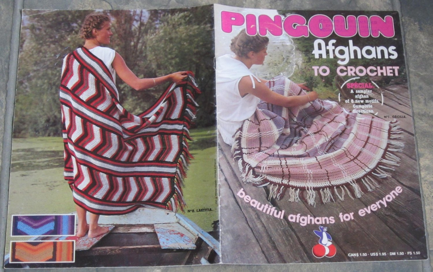 Pingouin Crochet Pattern Booklet Afghans To Crochet
