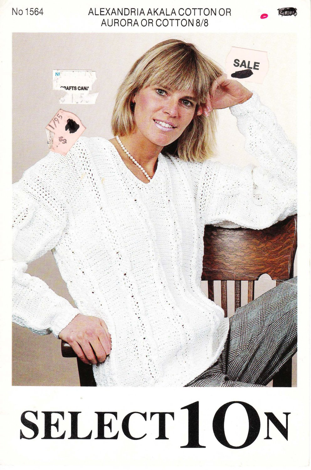 Select10n Knitting Pattern No.1564 for V Neck Pullover