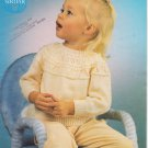Sirdar Baby Toddler Sweater Knitting Pattern c3464 to fit 18-24 inches