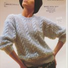 Sirdar Knitting Pattern #c6985 Dropped Shoulder Line Sweater