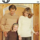 Sirdar Knitting Pattern #5917 to Knit Family Pullover Sweaters