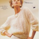 Sirdar Romance #c6990 Arrowhead Lace Knitting Pattern with Crochet Neck Edging