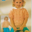Sirdar Knitting Pattern Leaflet #c4593 to knit Toddler Cardigan and Top