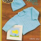 SRK Angel Baby Cable Panel Pullover and Hat Knitting Pattern SRK 162